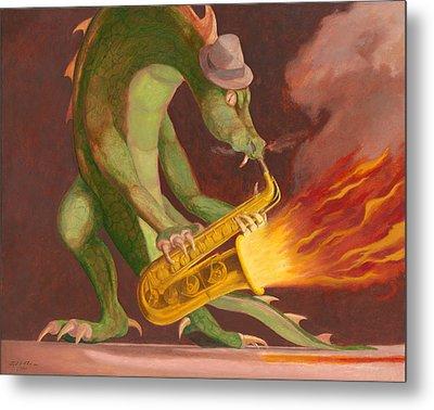 Hot Sax Metal Print