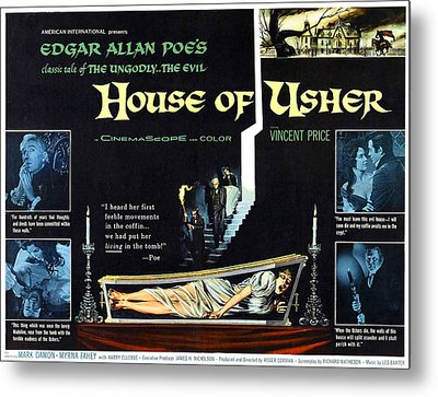 House Of Usher, Aka The Fall Of The Metal Print by Everett