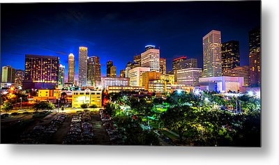 Metal Print featuring the photograph Houston City Lights by David Morefield