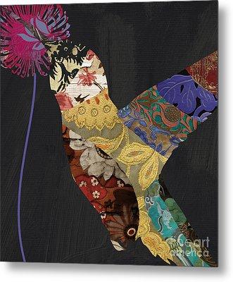 Hummingbird Brocade IIi  Metal Print by Mindy Sommers