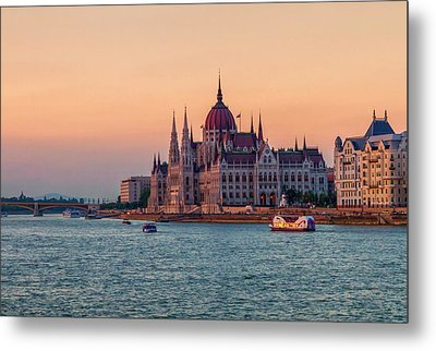 Hungarian Parliament Building In Budapest, Hungary Metal Print