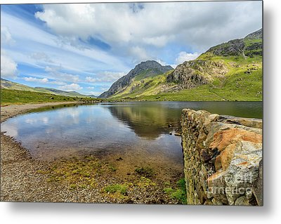 Metal Print featuring the photograph Idwal Lake Snowdonia by Adrian Evans