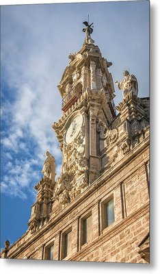 Metal Print featuring the photograph Iglesia De Los Santos Juanes Valencia Spain by Joan Carroll