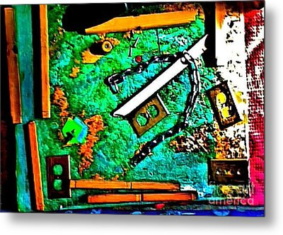 I'm Not The Same Person I Was At The Beginning Of This Sentence Metal Print by Contemporary Luxury Fine Art