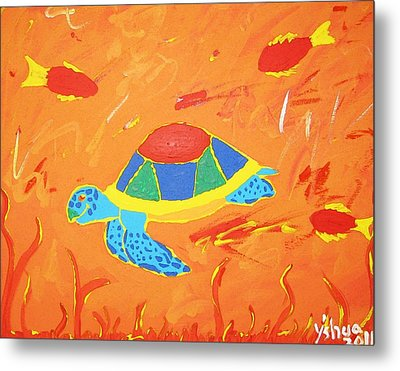 Metal Print featuring the painting Imagine by Yshua The Painter