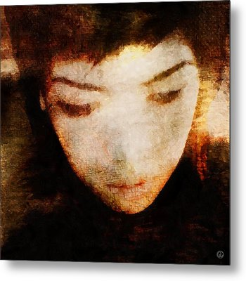 Metal Print featuring the digital art In Thoughts by Gun Legler