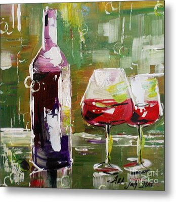 In Vino Veritas. Wine Collection Metal Print