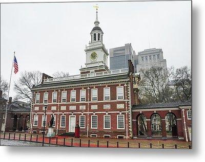 Independence Hall - Philadelphia Pennsylvania Metal Print by Bill Cannon