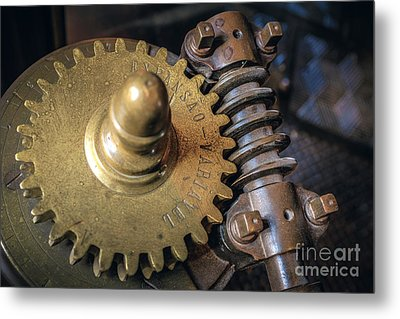 Industrial Gear Metal Print