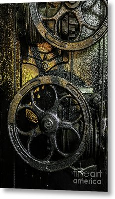 Industrial Wheels Metal Print by Carlos Caetano
