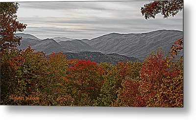 Infinite Smoky Mountains Metal Print by DigiArt Diaries by Vicky B Fuller