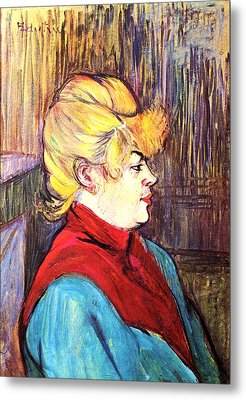 Inhabitant Of A Brothel Metal Print by Toulouse Lautrec