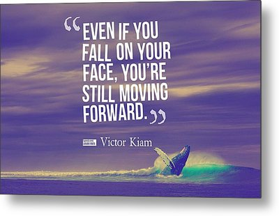 Inspirational Timeless Quotes - Victor Kiam Metal Print