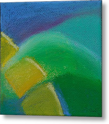 Inspired Blue 21 Metal Print by Jacqueline Steudler