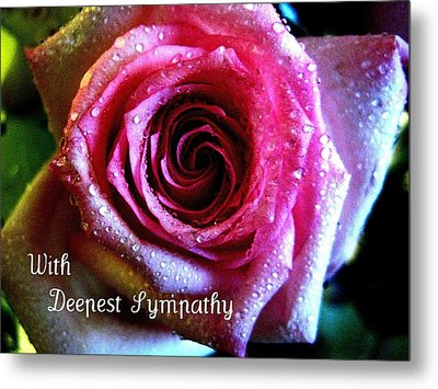 Intense Rose Metal Print