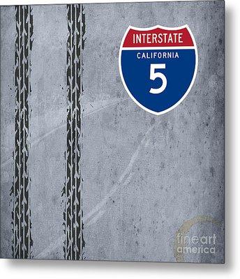 Interstate 5, California Metal Print by Pablo Franchi