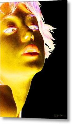 Inverted Realities - Yellow  Metal Print