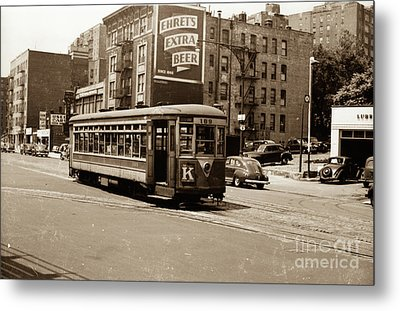 Metal Print featuring the photograph Inwood Trolley by Cole Thompson