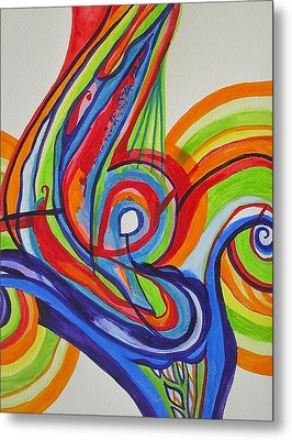 Iridescent Twister Metal Print by Erika Swartzkopf