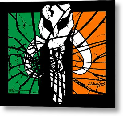 Irish Mandalorian Flag Metal Print