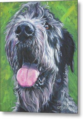 Irish Wolfhound Metal Print by Lee Ann Shepard