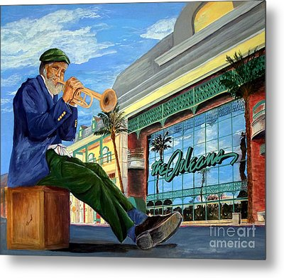 Jazz At The Orleans Metal Print by Vicki  Housel