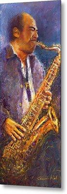 Jazz Saxophonist Metal Print
