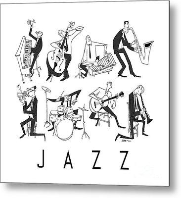 Jazz Metal Print by Sean Hagan