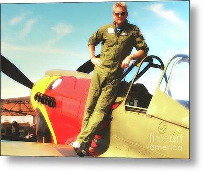 Jc Paul And P-40 Parrothead Reno Air Races 2010 Metal Print by Gus McCrea