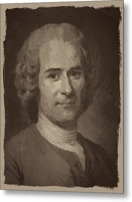 Jean Jacques Rousseau Metal Print by Afterdarkness
