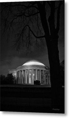 Jefferson Memorial At Night Metal Print by Sanjay Nayar