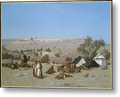 Jerusalem From The Environs Metal Print by MotionAge Designs