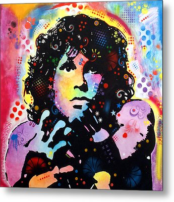 Metal Print featuring the painting Jim Morrison by Dean Russo