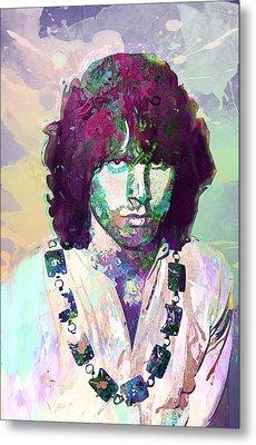 Jim Morrison Metal Print by Elena Kosvincheva