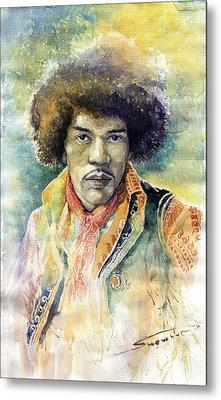 Jimi Hendrix 01 Metal Print by Yuriy Shevchuk