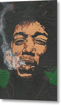 Jimi Hendrix Metal Print by Rachel Natalie Rawlins