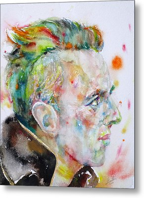 Joe Strummer - Watercolor Portrait Metal Print