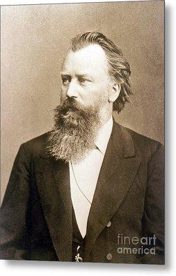 Johannes Brahms, German Composer Metal Print