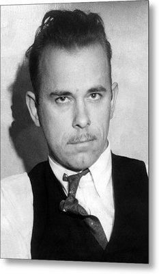 John Dillinger, Public Enemy No.1 Metal Print by Everett