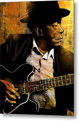John Lee Hooker Metal Print by Paul Sachtleben