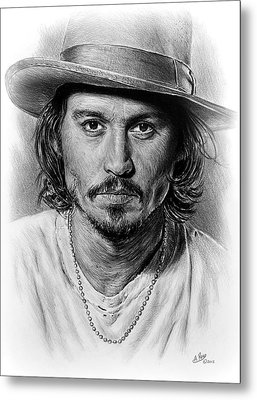 Johnny Depp Metal Print by Andrew Read