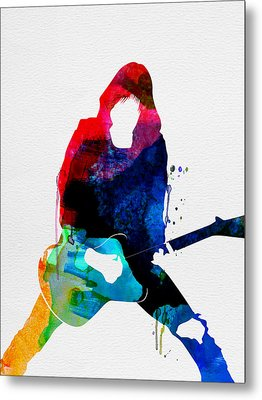 Johnny Watercolor Metal Print by Naxart Studio