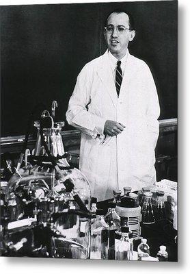 Jonas E. Salk 1914-1995, American Metal Print
