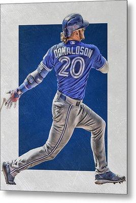 Josh Donaldson Toronto Blue Jays Art Metal Print