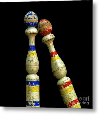 Juggling Pin Metal Print