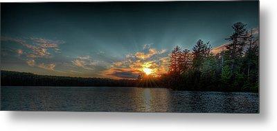 June Sunset On Nicks Lake Metal Print by David Patterson