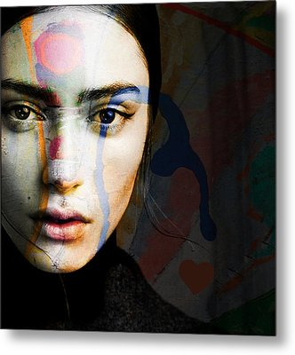 Metal Print featuring the mixed media Just Like A Woman by Paul Lovering