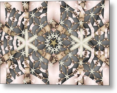 Metal Print featuring the digital art Kaleidoscope 97 by Ron Bissett