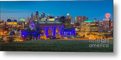 Kansas City Panorama Metal Print by Inge Johnsson
