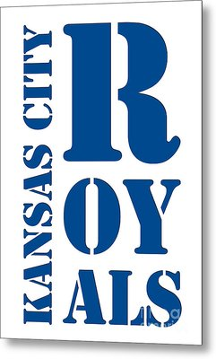 Kansas City Royals Typography Metal Print by Pablo Franchi
